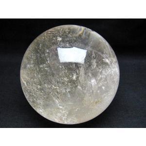 2.1Kg ガーデン水晶放射プラチナ入水晶 丸玉 115mm  S40-68|seian|03