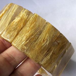 ゴールドタイチンルチル バングル t107-2617|seian