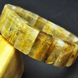 ゴールドタイチンルチル バングル  t107-2853|seian