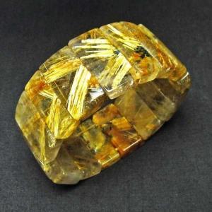 ゴールドタイチンルチル バングル  t107-3241|seian