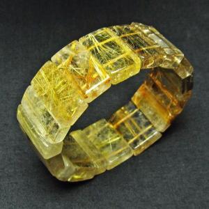 ゴールドタイチンルチル バングル  t107-3268|seian