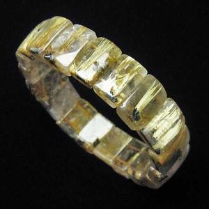 ゴールドタイチンルチル バングル  パワーストーン 天然石 t107-3557|seian