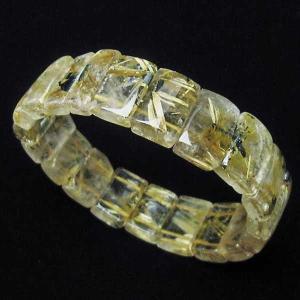 ゴールドタイチンルチル バングル  パワーストーン 天然石 t107-3581|seian