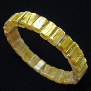 ゴールドタイチンルチル バングル  t107-3690|seian