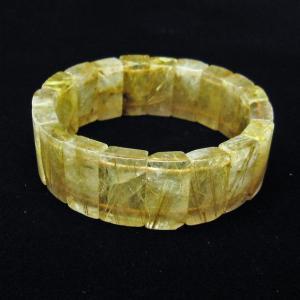 ゴールドタイチンルチル バングル  t107-3746|seian