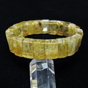 ゴールドタイチンルチル バングル  t107-3756|seian