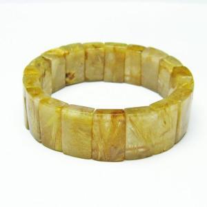 ゴールドタイチンルチル バングル  t107-3758|seian