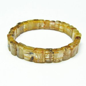 ゴールドタイチンルチル バングル  t107-3892|seian