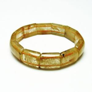 ゴールドタイチンルチル バングル  t107-3960|seian