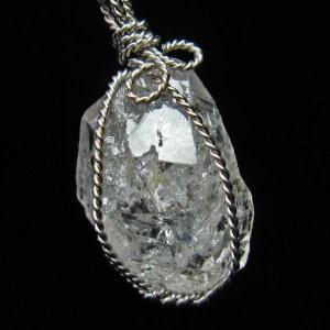 ハーキマーダイヤモンド水晶  ペンダント  パワーストーン 天然石 t110-3561|seian