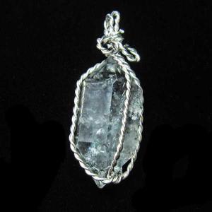 ハーキマーダイヤモンド水晶  ペンダント  パワーストーン 天然石 t110-3570|seian