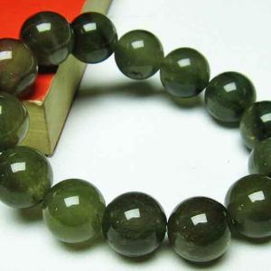キャッツアイ緑ルチル水晶 ブレスレット 16mm t111-5269|seian