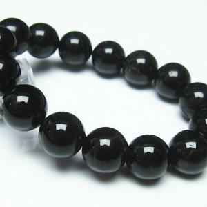 モリオン 純天然 黒水晶  ブレスレット 14mm  t112-3761|seian