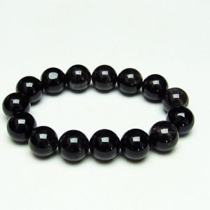 モリオン 純天然 黒水晶  ブレスレット 14mm  t112-3961|seian