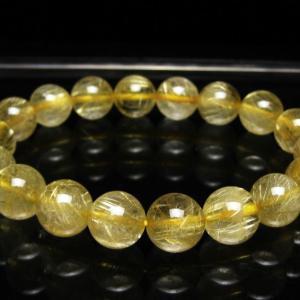 ゴールドタイチンルチル ブレスレット 11mm t116-9046|seian