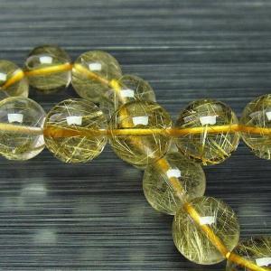 ゴールドタイチンルチル ブレスレット 11mm t116-9549|seian