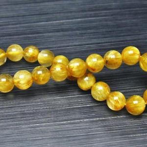 ゴールドタイチンルチル ブレスレット 8mm t116-9838|seian