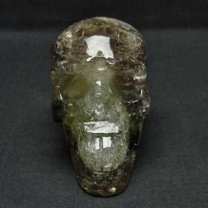 シトリン水晶 ドクロ パワーストーン 天然石 t130-1746|seian