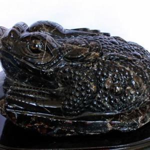 黒水晶(モリオン 原石 本物 )金蟾 同梱不可 18.9Kg パワーストーン 天然石 t130-723|seian