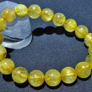 ルチルクォーツ(金針ルチル水晶) ブレスレット 11mm t132-14867|seian