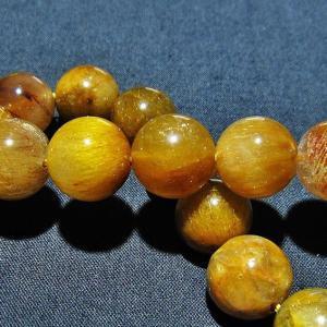 ルチルクォーツ(金針ルチル水晶) ブレスレット 13mm  t132-15102|seian