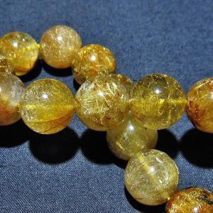 ルチルクォーツ(金針ルチル水晶) ブレスレット 14mm  t132-15457 seian
