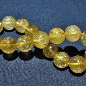 ルチルクォーツ(金針ルチル水晶) ブレスレット 12mm  t132-15526 seian