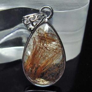 ルチルクォーツ(金針ルチル水晶) ペンダント  パワーストーン 天然石 t134-2809 seian