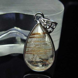 ファイナルグレードルチルクォーツ(金針ルチル水晶) ペンダント  パワーストーン 天然石 t134-2841 seian