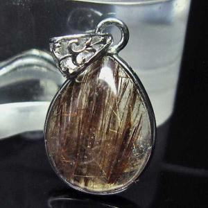 ファイナルグレードルチルクォーツ(金針ルチル水晶) ペンダント  パワーストーン 天然石 t134-2879 seian