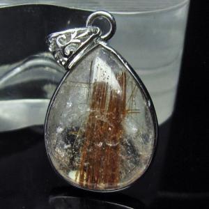 ファイナルグレードルチルクォーツ(金針ルチル水晶) ペンダント  t134-2882 seian