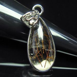 ルチルクォーツ(金針ルチル水晶) ペンダント  t134-2903 seian