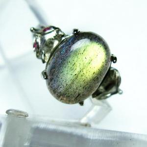 ラブラドライト 指輪  t135-5496|seian