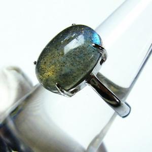 ラブラドライト 指輪  t135-5557|seian