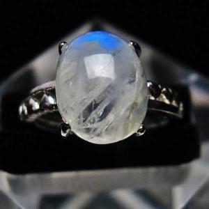 ムーンストーン 指輪 (11号) t135-5685 seian