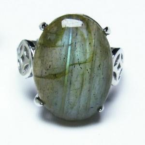 ラブラドライト 指輪 (12号) t135-5939|seian