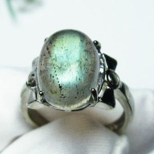 ラブラドライト 指輪 (9号) t135-5975|seian