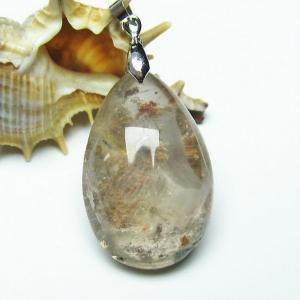 ガーデンルチル水晶 ペンダント  パワーストーン 天然石 t136-2628|seian