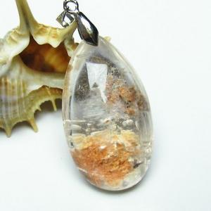 ガーデンルチル水晶 ペンダント  パワーストーン 天然石 t136-2631|seian