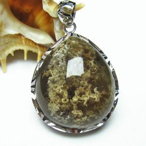 ガーデンクォーツ(庭園水晶) ペンダント  パワーストーン 天然石 t136-2682|seian