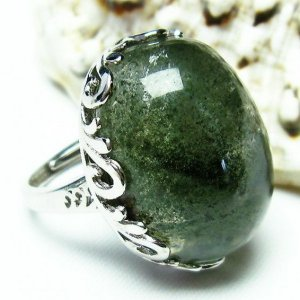 ガーデンクォーツ(庭園水晶) 指輪 t137-1433|seian