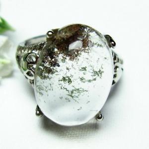 ガーデンクォーツ(庭園水晶) 指輪 (12号) t137-1683|seian