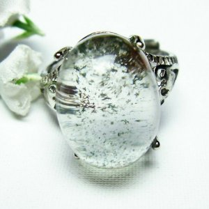 ガーデンクォーツ(庭園水晶) 指輪 (13号) t137-1711|seian