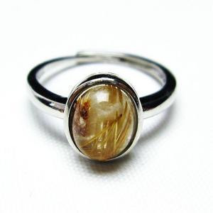 ゴールドタイチンルチル 指輪 (14号) t137-2085|seian