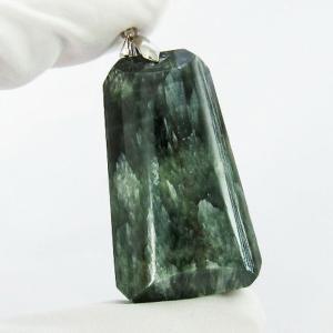 セラフィナイト ペンダント  パワーストーン 天然石 t14-2985|seian