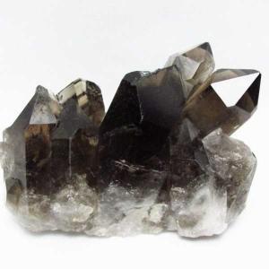 ブラジル産  モリオン 純天然 黒水晶 クラスター t143-1332|seian