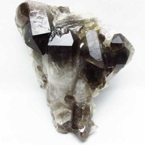 ブラジル産  モリオン 純天然 黒水晶 クラスター t143-1373|seian