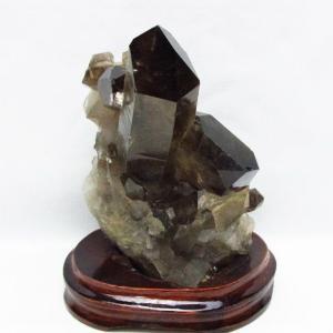 ブラジル産  モリオン 純天然 黒水晶 クラスター t143-1420 seian
