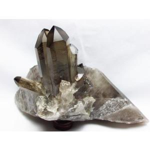 1.8Kg ブラジル産  モリオン 純天然 黒水晶 クラスター t143-1510|seian|02