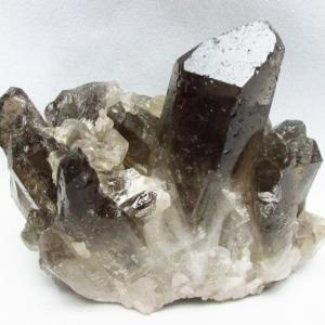 ブラジル産  モリオン 純天然 黒水晶 クラスター t143-1544 seian